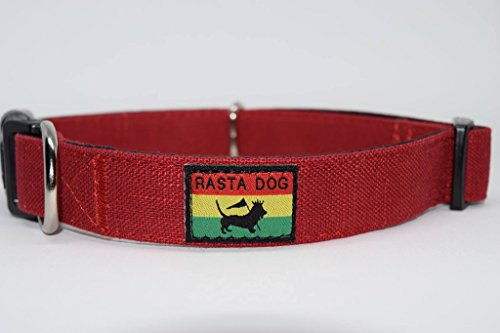 RASTA-DOG-Fllece-Lined-Bamboo-Dog-Collar-Leash-Set-Bundle-with-FREE-ID-TAG-Sizes-S-M-L-XL-Red-Black-Tan-Grey