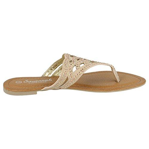 Ladies Savannah Sandals - Style F0759 Nude (Beige) ZIWXoRYa4