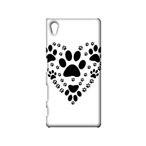 Sony Xperia Z5 Mobile Cover Fresh And Bright Protective Phone Case Snap on Sony Xperia Z5 Vector Graphics Of Dog Paw Prints Consisting Of Heart Pattern Cellphone Shell