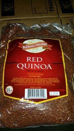 Supremo Italiano Pre Washed Red Quinoa 10 Lb by Supremo Italiano