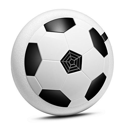 JINHONG Air Power Soccer Disc, Multi-surface Hovering And Gliding Toy Indoor Outdoor Soft Foam Floating Led Light Up Flashing Football game toys