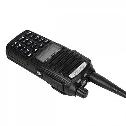 BaoFeng UV 82 Dual Band Two Way Radio 136 174MHz VHF & 400 520MHz UHF (Black)