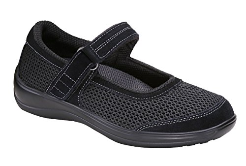 Orthopedic Black Shoes Chattanooga Arthritis Orthofeet Womens Mary Jane Comfortable Diabetic gqwc5az