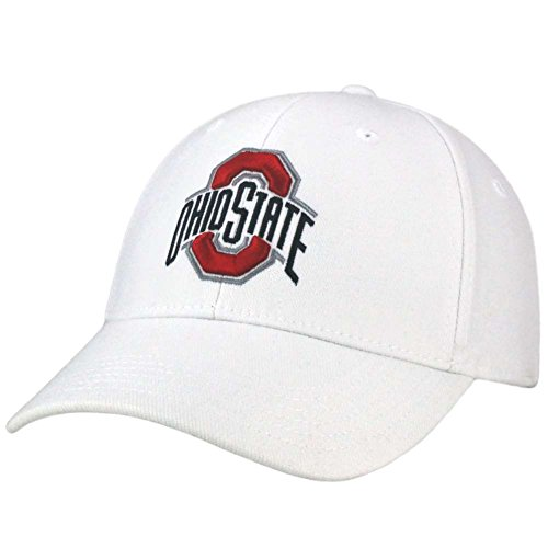 Top of the World NCAA Ohio State Buckeyes Memory Fit Wool Blend Hat, One Size, White