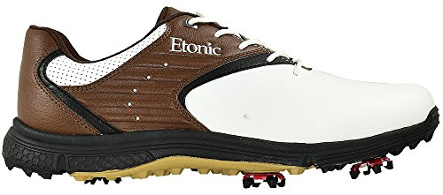 Etonic Golf- Stabilite Shoes White/Brown Size 10 Medium EG500WBR (Certified Refurbished)
