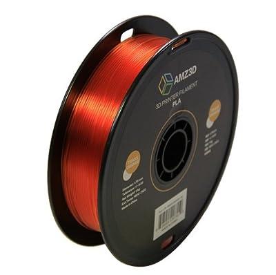 1.75mm Trans Orange PLA 3D Printer Filament - 1kg Spool (2.2 lbs) - Dimensional Accuracy +/- 0.03mm