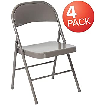 Amazon.com: Flash Furniture Serie Hércules Silla plegable de ...