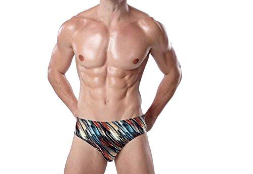 KUWOMINI.Fashion Farbe Männer Große Größe Badehose,Multi-color1-XXL