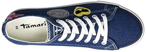 denim 38 Bleu Eu Blau 802 802 23633 Basses Femme Sneakers Tamaris xwBOfUqXB