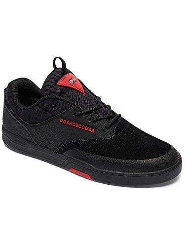 Zapatos Dc Chris Cole Lite 3 Super Suede - Core Skate Collection Negro-Negro-Roj (Eu 46 / Us 12 , Negro)