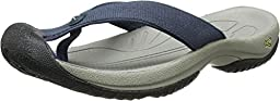 KEEN Men\'s Waimea H2 Beach Sandal, Midnight Navy/Neutral Gray, 9.5 M US