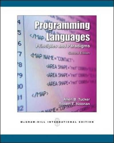 Programming Languages: Principles and Paradigms by McGraw-Hill Higher Education