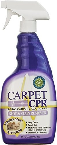 Carpet CPR 32oz Bottle – Spot Treatment & Dirt Repellent for High Traffic Areas and Your Toughest Stains – Treats Spots, Deep Cleans & Repels Dirt in Minutes