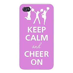 Apple Iphone Custom Case 5 / 5s White Plastic Snap on - Keep Calm and Cheer On Cheerleaders