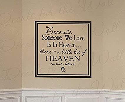 Amazon.com: Decals for Become Someone We Love Heaven Family ...