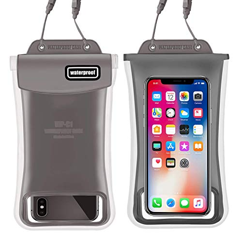 Waterproof Phone Pouch,2Pack Floating Gihery Universal Cellphone Waterproof Pouch Case IPX8 Certified Dry Bag Compatible with iPhone XsMax/Xs/Xr/X/8Plus/8/7Plus/7/6s/6 Samsung Galaxy S10/S10Plus/S9 (Cellular Phone Pouch)