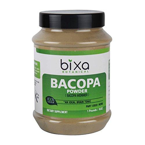 Brahmi Powder (Bacopa Powder) - 1 Pound / 16 Oz (Bacopa Monnieri/Brahmi Leaves) - Ideal Brain Tonic | Ayurvedic Herbal Supplement for Brain, Intelligence & Focus | Useful to Improve Voice Quality