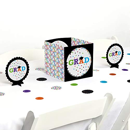 Big Dot of Happiness Hats Off Grad - Graduation Party Centerpiece & Table Decoration Kit