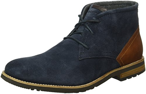 Rockport Ledgehill 2, Botines para Hombre Azul - Blau (NEW Dress Blues)