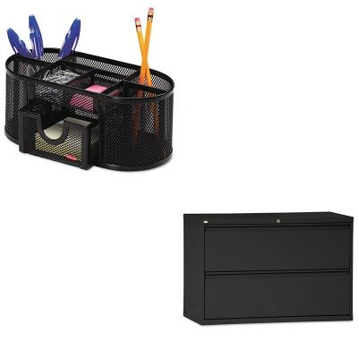 KITALELF4229BLROL1746466 - Value Kit - Best Two-Drawer Lateral File Cabinet (ALELF4229BL) and Rolodex Mesh Pencil Cup Organizer (ROL1746466) by Best