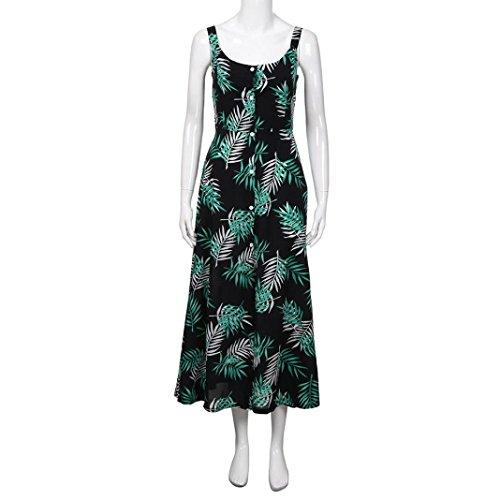 b594d0b79b47af ... VEMOW Sommer Elegante Damen Frauen Striped Lange Boho Kleid Dame Strand  Sommerkleid Casual Täglichen Party Strand