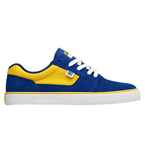 DC メンズ DC Men's Tonik Blue Yellow Skateboarding Shoes