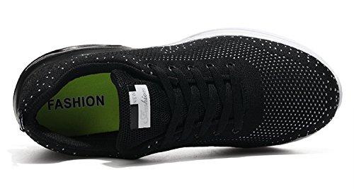 Sneakers all'Aperto Corsa Scarpe Fitness Ginnastica Interior Uomo Nero Casual da Donna Running Sportive tqgold WSRAqTfT7