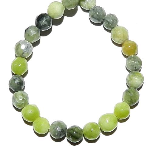 Bead Jewelry Making Green Serpentine 5mm - 7mm Faceted Round Gemstone Beads 7