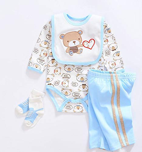 Medylove Reborn Baby Doll Clothes Boy 4pcs for 17- 18 inch Reborn Doll Boy Blue Outfit Set