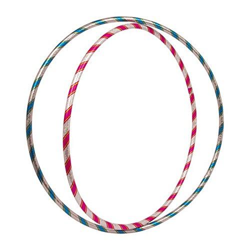 Hula Hoop Reifen Glitzer im 2er Set, in zwei Größen, sportlicher Spielspaß für Kinder ab 3 Jahren