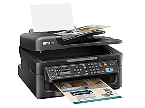 Epson WorkForce WF-2630 Wireless Business AIO Color Inkjet, Print, Copy, Scan, Fax, Mobile Printing, AirPrint, Compact (Epson Printer Workforce 2650)