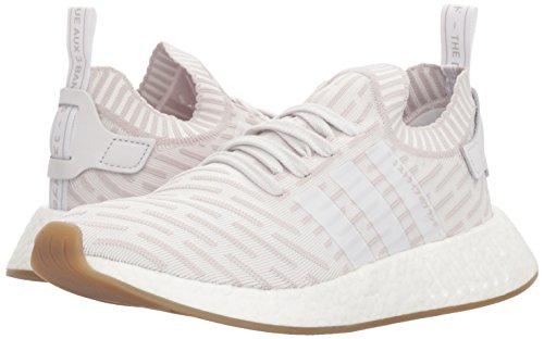 Adidas Originals Women's NMD_R2 PK W Sneaker, White/White/Shock Pink, 5 M US