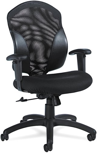 Global 19514 Tye Mesh Management Series Mid-Back Swivel/Tilt Chair, Black