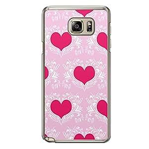 Loud Universe Samsung Galaxy Note 5 Love Valentine Printing Files A Valentine 10 Printed Transparent Edge Case - Pink