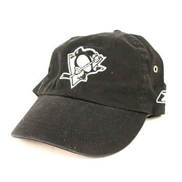 reebok hockey baseball cap penguins unisex black hat classic
