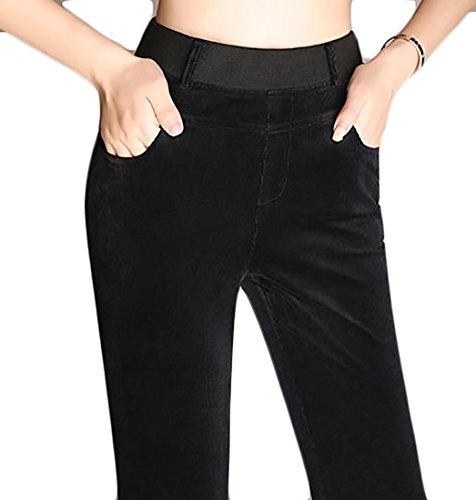Linen Blend Bootcut Pants - 3