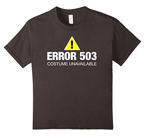Kids Funny Error Halloween Costume T-Shirt for Web Developer 12 Asphalt (Funny 12 Tech Halloween Costume Ideas)