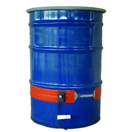 - BriskHeat DPCS15 DPCS Standard Heavy Duty Poly Drum Heater, Fits 55-Gallon Poly Drums, 2-Layer Reinforced Silicone Rubber, W x L: 4 x 70-Inch, Diameter, 22.3-Inch, 120VAC