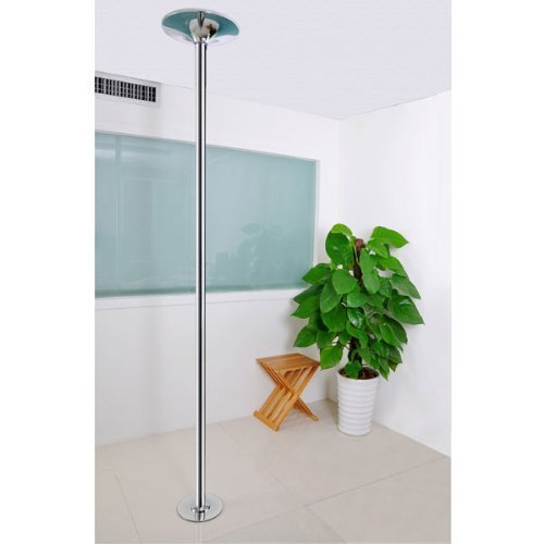 45mm Dia. Spinning Static Dancing Stripper Agility Pole Dance Removable Exotic Metal Construction w/ Height Adjustable 7 Ft - 8.8 Ft 440 lbs for Exercise Performance Training Practice by Generic (Image #2)