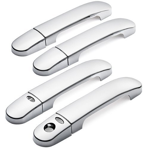 8 PCs Mirror Polished Triple Chrome Plated Door Handle Cover 3M Adhesive Tape Stick On With Smart Key for 2004-2011 Nissan Versa / Tiida / Latio 2004-2009 Nissan Note (Nissan Note Parts compare prices)