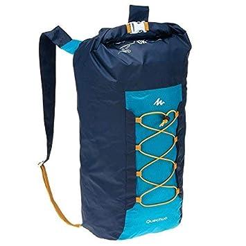 QUECHUA - Mochila plegable ultra compacta de 20 litros para acampada al aire libre festivales, 8357283, azul: Amazon.es: Deportes y aire libre