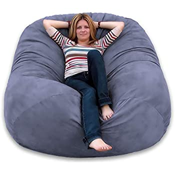 Awesome Amazon Com Chill Sack Bean Bag Chair Huge 7 5 Memory Foam Unemploymentrelief Wooden Chair Designs For Living Room Unemploymentrelieforg