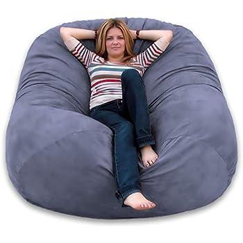 Amazon Com Cozy Sack 6 Feet Bean Bag Chair Large Grey