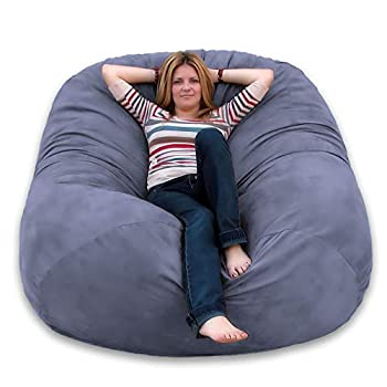 Image of Cozy Sack 6-Feet Bean Bag Chair, Large, Grey Home and Kitchen