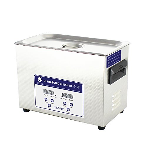 Skymen Industrial Ultrasonic Cleaner for Parts 4.5L Cleaning Solution Cleaner Machine with Timer and Heater Sonic Bath Cleaning for Gun, Medical Lab Tools, Auto Bicycle Parts etc