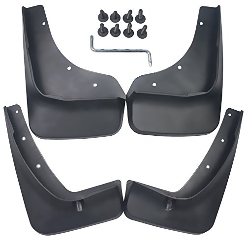 biosp Auto Mud Flaps Splash Guards For Mazda CX-5 CX5 2017 2018 2019 Front and Rear Fender Cover PP-Custom Fit Black Molded 4Pcs ()