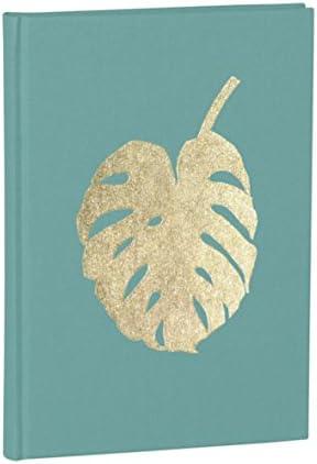 Semikolon (359072) Notizbuch Classic B5 blanko Monstera acquaverde (grün) - Notiz- und Sketch-Buch - 144 Seiten mit cremeweißem 100g/m²- Papier