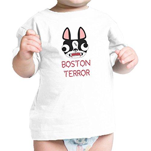 365 Printing Boston Terror Terrier Cute Baby White Tee Shirt Halloween (Enzyme Halloween Costume)