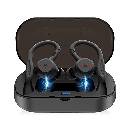 EEEKit True Wireless Earbuds, Bluetooth 5.0 in-Ear Earbuds Sweatproof Sports, True Wireless Headphones with Enhanced Drivers, 3D Stereo Sound, Built-in Mic, Bluetooth Earphones Headset