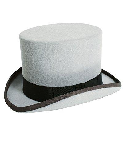 2b546754 Christys' London Mens Grey Top Hat Soft Wool Felt Formal Wedding Races-61